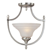 Maxim Lighting South Bend 1 Light Semi-Flush Mount in Satin Nickel 10150FTSN photo thumbnail