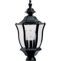 Maxim Lighting Madrona 3 Light Outdoor Pole/Post Lantern in Black 1015BK