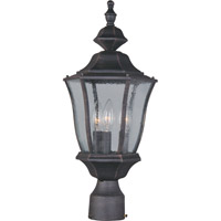Maxim 1015RP Madrona 3 Light 19 inch Rust Patina Outdoor Pole/Post Lantern
