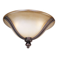 Madera 3 Light 16 inch Oil Rubbed Bronze Flush Mount Ceiling Light