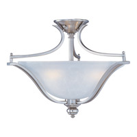 Madera 3 Light 20 inch Satin Silver Semi Flush Mount Ceiling Light