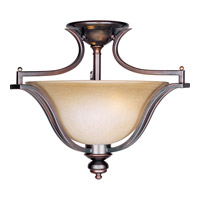 Maxim 10171WSOI Madera 3 Light 20 inch Oil Rubbed Bronze Semi Flush Mount Ceiling Light