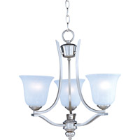 Madera 3 Light 19 inch Satin Silver Mini Chandelier Ceiling Light