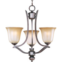 Maxim 10174WSOI Madera 3 Light 19 inch Oil Rubbed Bronze Mini Chandelier Ceiling Light photo thumbnail