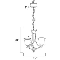 Maxim 10174WSOI Madera 3 Light 19 inch Oil Rubbed Bronze Mini Chandelier Ceiling Light alternative photo thumbnail