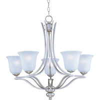 Madera 5 Light 26 inch Satin Silver Single Tier Chandelier Ceiling Light