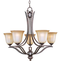 Madera 5 Light 26 inch Oil Rubbed Bronze Single Tier Chandelier Ceiling Light