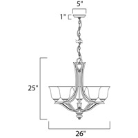 Maxim 10175ICSS Madera 5 Light 26 inch Satin Silver Single Tier Chandelier Ceiling Light alternative photo thumbnail