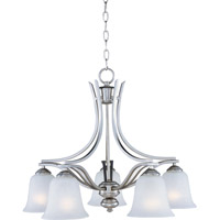 Madera 5 Light 25 inch Satin Silver Down Light Chandelier Ceiling Light