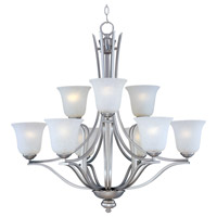 Maxim 10177ICSS Madera 9 Light 32 inch Satin Silver Multi-Tier Chandelier Ceiling Light