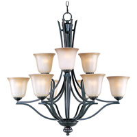 Maxim 10177WSOI Madera 9 Light 32 inch Oil Rubbed Bronze Multi-Tier Chandelier Ceiling Light photo thumbnail
