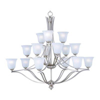 Maxim Lighting Madera 15 Light Multi-Tier Chandelier in Satin Silver 10178ICSS