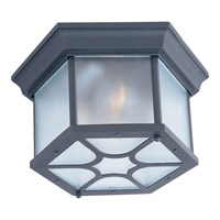 Maxim Lighting Crown Hill 2 Light Outdoor Ceiling Mount in Black 1017BK