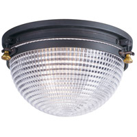 Maxim 10180OIAB Portside 1 Light 12 inch Oil Rubbed Bronze and Antique Brass Outdoor Flush Mount