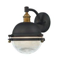 Portside 1 Light 11 inch Oil Rubbed Bronze and Antique Brass Outdoor Wall Mount