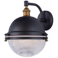 Maxim 10186OIAB Portside 1 Light 14 inch Oil Rubbed Bronze and Antique Brass Outdoor Wall Sconce