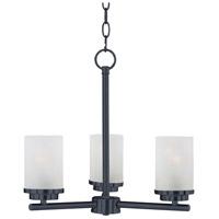 Maxim 10203FTBK Corona 3 Light 17 inch Black Single-Tier Chandelier Ceiling Light