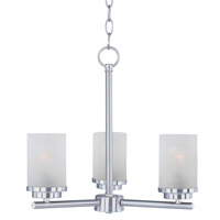 Maxim Lighting Corona 3 Light Single-Tier Chandelier in Satin Nickel 10203FTSN