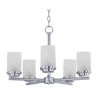 Corona 5 Light 22 inch Satin Nickel Single-Tier Chandelier Ceiling Light