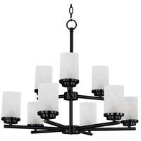 Maxim 10206FTBK Corona 9 Light 28 inch Black Multi-Tier Chandelier Ceiling Light