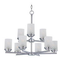 Corona 9 Light 28 inch Satin Nickel Multi-Tier Chandelier Ceiling Light