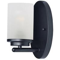 Maxim 10211FTBK Corona 1 Light 5 inch Black Bath Vanity Wall Light