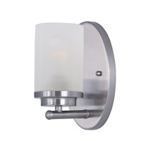 Corona 1 Light 5 inch Satin Nickel Bath Vanity Wall Light