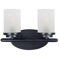 Maxim 10212FTBK Corona 2 Light 12 inch Black Bath Vanity Wall Light