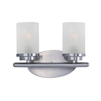 Corona 2 Light 12 inch Satin Nickel Bath Vanity Wall Light
