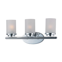 Corona 3 Light 19 inch Polished Chrome Bath Vanity Wall Light
