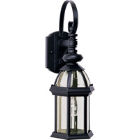 Maxim Lighting Builder Cast 1 Light Outdoor Wall Mount in Black 1021BK photo thumbnail