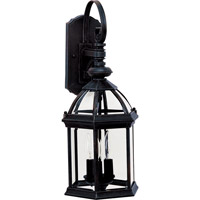 Maxim Lighting Builder Cast 3 Light Outdoor Wall Mount in Black 1022BK photo thumbnail