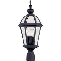 Maxim Lighting Builder Cast 3 Light Outdoor Pole/Post Lantern in Black 1023BK photo thumbnail