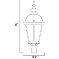 Maxim Lighting Builder Cast 3 Light Outdoor Pole/Post Lantern in Black 1023BK alternative photo thumbnail