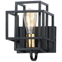 Maxim 10241BKSBR Liner 1 Light Black and Satin Brass Wall Sconce Wall Light