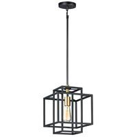 Maxim 10246BKSBR Liner 1 Light 10 inch Black and Satin Brass Single Pendant Ceiling Light