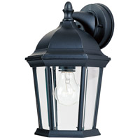 Maxim Lighting Builder Cast 1 Light Outdoor Wall Mount in Black 1024BK