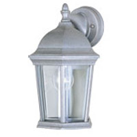 Maxim 1024PE Builder Cast 1 Light 12 inch Pewter Outdoor Wall Mount