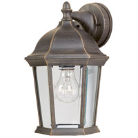 Builder Cast 1 Light 12 inch Rust Patina Outdoor Wall Mount