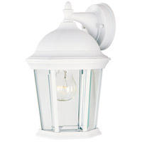 Builder Cast 1 Light 12 inch White Outdoor Wall Mount
