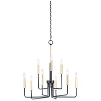 Maxim 10257BKGLD Sullivan 9 Light 25 inch Black and Gold Multi-Tier Chandelier Ceiling Light