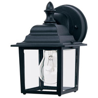 Builder Cast 1 Light 9 inch Black Outdoor Wall Mount