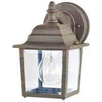 Maxim Lighting Builder Cast 1 Light Outdoor Wall Mount in Rust Patina 1025RP photo thumbnail