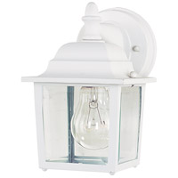 Builder Cast 1 Light 9 inch White Outdoor Wall Mount