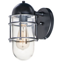 Maxim 10262CLBK Seaside 1 Light 11 inch Black Outdoor Wall Sconce