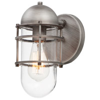 Maxim 10262CLWZ Seaside 1 Light 11 inch Weathered Zinc Outdoor Wall Sconce