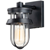 Maxim 10265CLBK Breakwater 1 Light 10 inch Black Outdoor Wall Sconce