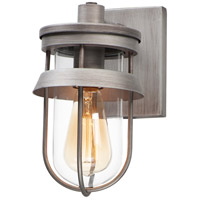 Maxim 10265CLWZ Breakwater 1 Light 10 inch Weathered Zinc Outdoor Wall Sconce