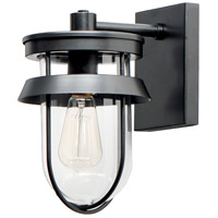 Maxim 10266CLBK Breakwater 1 Light 11 inch Black Outdoor Wall Mount