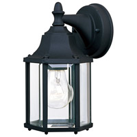 Builder Cast 1 Light 10 inch Black Outdoor Wall Mount